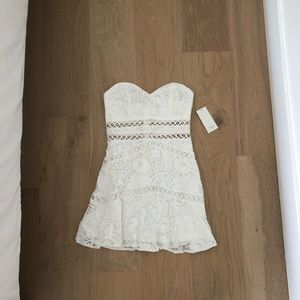 TOBI Strapless Lace Dress
